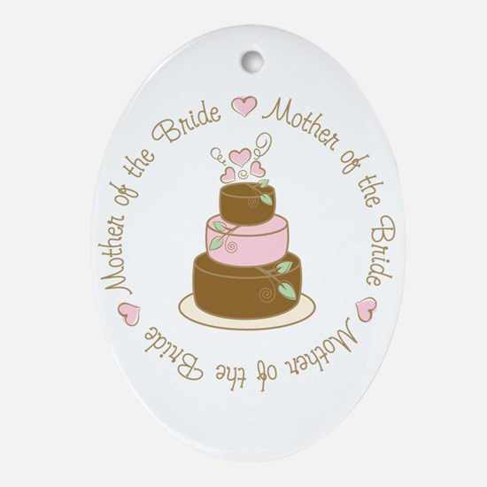 Mother of the Bride Cake Oval Ornament