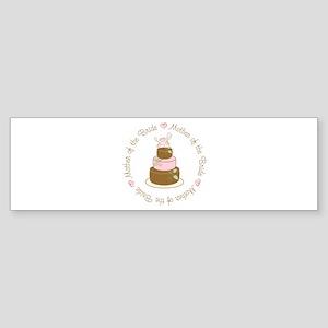 Mother of the Bride Cake Bumper Sticker