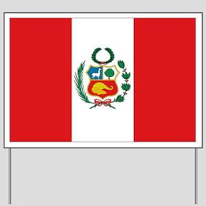 Large Flag Peru Yard Sign