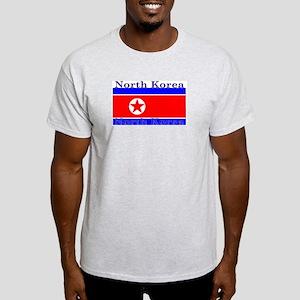 North Korea Korean Flag Ash Grey T-Shirt