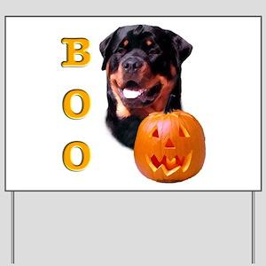 Halloween Rottie Boo Yard Sign