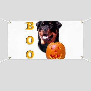 Halloween Rottie Boo Banner