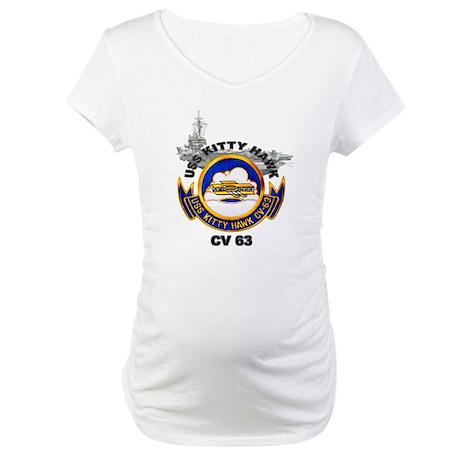 USS Kitty Hawk CV-63 Maternity T-Shirt