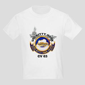 USS Kitty Hawk CV-63 Kids Light T-Shirt