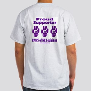 Proud PAWS Supporter Light T-Shirt