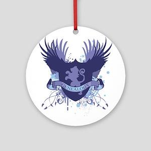 Blue Genealogy Crest Ornament (Round)