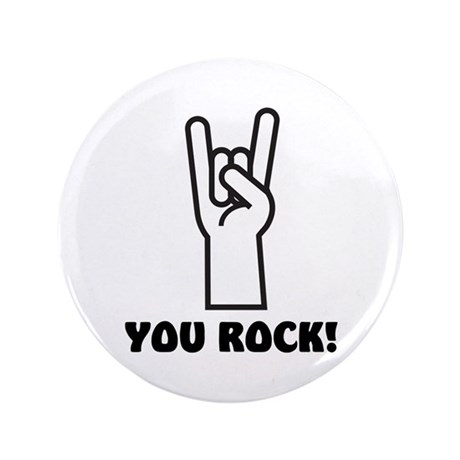 "You Rock Hand 3.5"" Button"