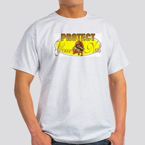 Protect your nuts Ash Grey T-Shirt