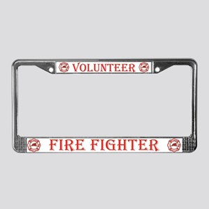 Volunteer Fire Fighters License Plate Frame