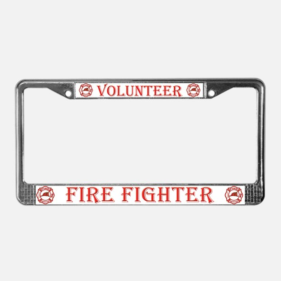 Volunteer Fire Fighters License Plate Frame