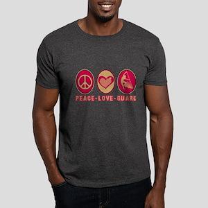 PEACE - LOVE - GUARD Dark T-Shirt