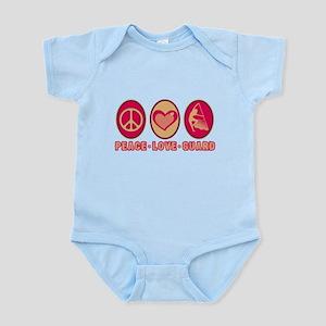 PEACE - LOVE - GUARD Infant Bodysuit