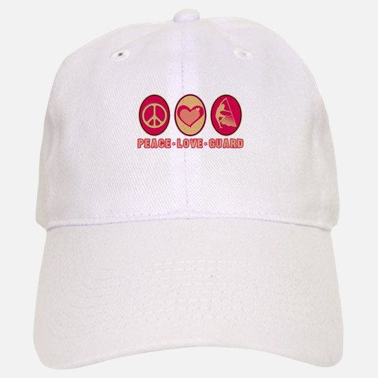 PEACE - LOVE - GUARD Baseball Baseball Cap