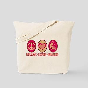 PEACE - LOVE - GUARD Tote Bag