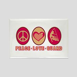 PEACE - LOVE - GUARD Rectangle Magnet
