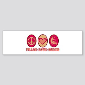PEACE - LOVE - GUARD Bumper Sticker