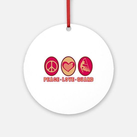 PEACE - LOVE - GUARD Ornament (Round)