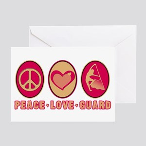 PEACE - LOVE - GUARD Greeting Cards (Pk of 10)
