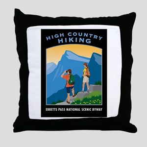 High Country Hiking - Throw Pillow