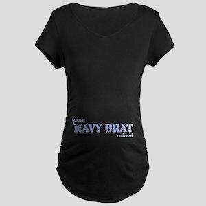 Future Navy Brat On Board Maternity Dark T-Shirt