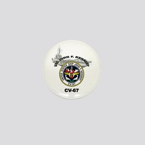 USS John F. Kennedy CV-67 Mini Button