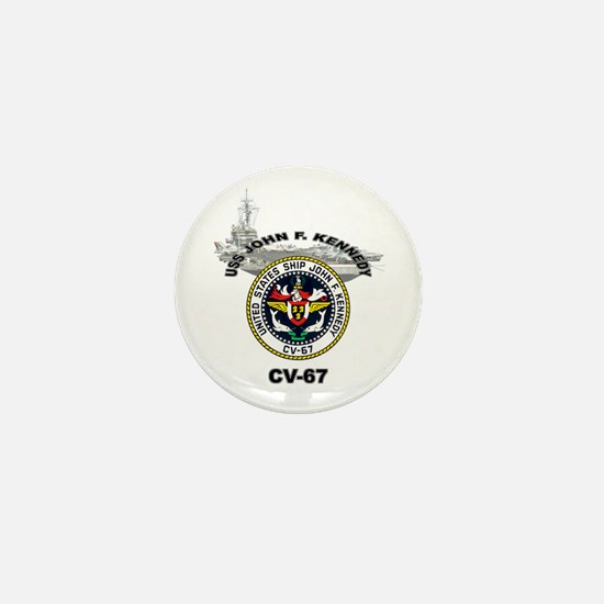 USS John F. Kennedy CV-67 Mini Button