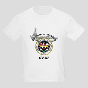 USS John F. Kennedy CV-67 Kids Light T-Shirt