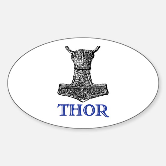 THOR (Hammer) Oval Decal