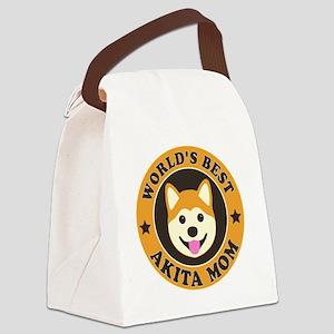 world best akita mom Canvas Lunch Bag