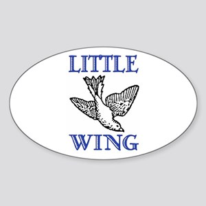 LITTLE WING Oval Sticker