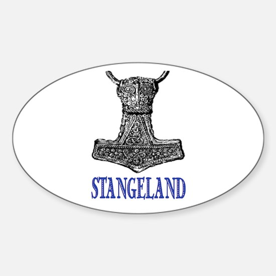 STANGELAND Oval Decal