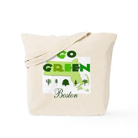 Go Green Boston Reusable Tote Bag