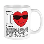 I Love Manhattan Beach Mugs