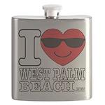 I Love West Palm Beach Flask