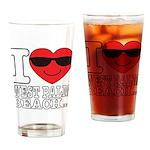 I Love West Palm Beach Drinking Glass