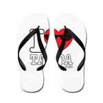 I Love Tampa Flip Flops