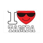 I Love Tampa Wall Decal