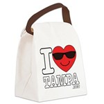 I Love Tampa Canvas Lunch Bag