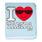 I Love Tampa baby blanket