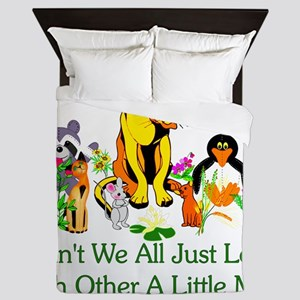 Peace Animals Queen Duvet