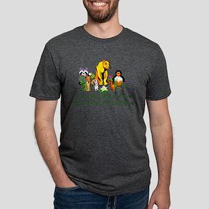 Peace Animals Mens Tri-blend T-Shirt