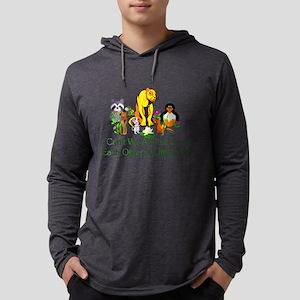 Peace Animals Mens Hooded Shirt