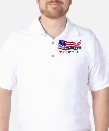 Land of the Free Golf Shirt
