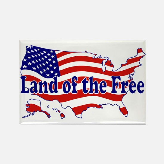 Land of the Free Rectangle Magnet