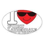 I Love Fort Lauderdale Beach Sticker