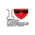 I Love Fort Lauderdale Beach Wall Decal