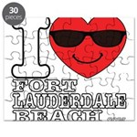 I Love Fort Lauderdale Beach Puzzle