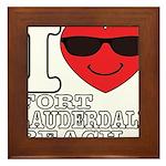 I Love Fort Lauderdale Beach Framed Tile