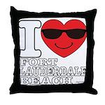 I Love Fort Lauderdale Beach Throw Pillow