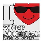 I Love Fort Lauderdale Beach Tile Coaster